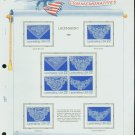 USA MH Sc# 2351 – 54 8 - 22c Comm Stamps Hinge Mounted on ONE White Ace Page – E2703