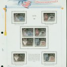 USA MH Scott# 2372 – 73 - 8 - 22c Comm Stamps Hinge Mounted on ONE White Ace Page – E2703