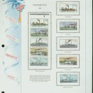 USA MH Sc# 2405 - 09 - Ten UNUSED 25c Stamps Hinge Mounted on ONE White Ace ALBUM Page – E2703