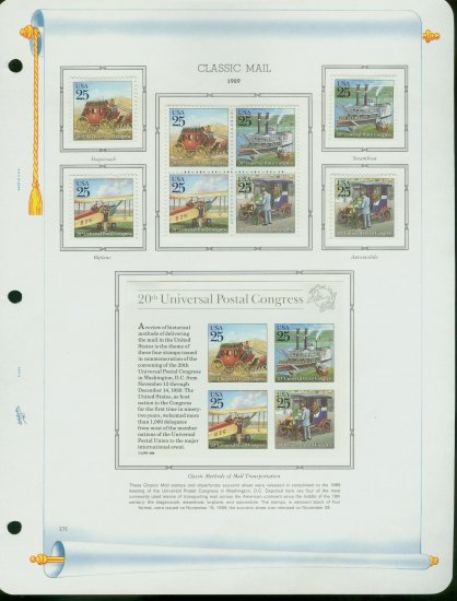 USA MH Scott# 2434 � 38 - 12 UNUSED 25c Stamps Hinge Mounted on ONE White Ace ALBUM Page � E2703