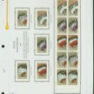 USA MH Sc# 2501 – 5 - 15 UNUSED 25c Comm Stamps Hinge Mounted on ONE White Ace ALBUM Page– E2703