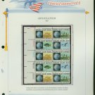 1970 USA MNH Sc# 1410 –13 Anti-Pollution Stamps on 4 WA Pages – Plt #'d Blocks of 10 – E2703