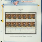 1971 USA MNH Sc# 1444 Plate #'d Block of 12 Stamps mounted on a WA Pg – Christmas – E2703