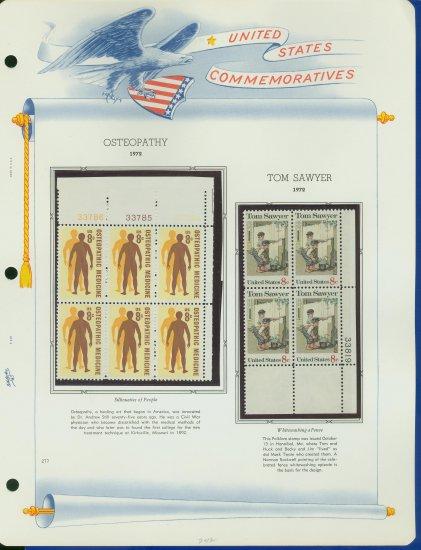 1972 USA MNH Sc# 1469, 70 � Plate #�d Blocks of 6 & 4 Stamps mounted on a WA Page � E2703