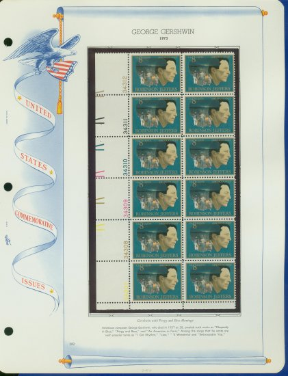 1973 USA MNH Sc# 1485 Plate #�d Block of 12 Stamps mounted on a WA Pg � Christmas � E2703