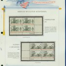 1973 USA MNH Sc# 1476 –9 Colonial Communications Stamps on WA Pgs –Plt #'d Blks of 4– E2703