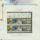 1973 USA MNH Sc# 1489 – 98 Postal Service Stamps on WA Pgs – Plt #'d Blk of 10 TOP–E2703