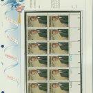 1973 USA MNH Sc# 1503 Plt #'d Blk of 12 Stamps mounted on a WA Pg – L B Johnson – E2703