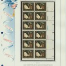 1973 USA MNH Sc# 1487 Plt #'d Blk of 12 Stamps mounted on a WA Pg – W Cather – E2703