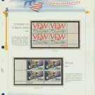 1974 USA MNH Sc# 1525, 29 – Plate #'d Blocks of 4 Stamps mounted on a White Ace Page – E2703