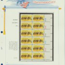 1974 USA MNH Sc# 1528 Plt #'d Block of 12 Stamps mounted on a WA Pg – Kentucky Derby - E2703