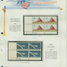 1961,2 USA MNH Scott# 1191, 3 Plate #'d Blocks of 4 Stamps mounted on a White Ace Page – E2703
