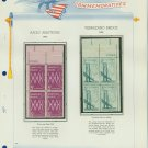 1964 USA MNH Scott# 1258, 1260 Plate #'d Blocks of 4 Stamps mounted on a White Ace Page – E2703