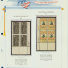 1966 USA MNH Scott# 1323, C70 Plate #'d Blocks of 4 Stamps mounted on a White Ace Page – E2703
