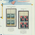 1968 USA MNH Scott# 1339, 1340 Plate #'d Blocks of 4 Stamps mounted on a White Ace Page – E2703