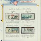 1964 USA MNH Scott# 1181, 1244,52, C69 - Mr. Zip Stamps mounted on a White Ace Page - E2703