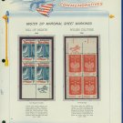 1966 USA MNH Scott# 1312, 13 - Mr. Zip Blocks of 4 Stamps mounted on a White Ace Page - E2703