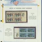 1968 USA MNH Scott# 1342, C74 - Mr. Zip Blocks of 4 Stamps mounted on a White Ace Page - E2703