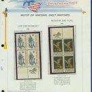 1968 USA MNH Scott# 1343, 44 - Mr. Zip Blocks of 4 Stamps mounted on a White Ace Page - E2703
