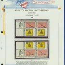 1968 USA MNH Scott# 1353, 54 - Mr. Zip Blocks of 4 Stamps mounted on a White Ace Page - E2703