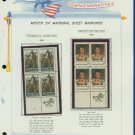 1968 USA MNH Scott# 1361, 64 - Mr. Zip Blocks of 4 Stamps mounted on a White Ace Page - E2703