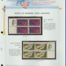 1969 USA MNH Scott# 1372, 74 - Mr. Zip Blocks of 4 Stamps mounted on a White Ace Page - E2703