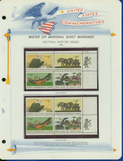 1969 USA MNH Scott# 1387 - 90 - Mr. Zip Blocks of 4 Stamps mounted on a White Ace Page - E2703