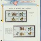 1970 USA MNH Sc# 1415 - 18 - Mr. Zip Blks of 4 Stamps mounted on WA Pgs – Christmas -E2703