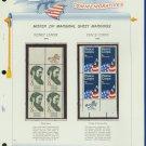 1972 USA MNH Scott# 1446, 1447 - Mr. Zip Blocks of 4 Stamps mounted on a White Ace Page - E2703
