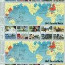 1992 USA MNH UNUSED Scott# 2697 – 1942 WWII Souvenir FULL Sheet E5997