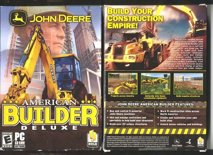 John Deere American BUILDER Deluxe pc video game  Special  Price!!!