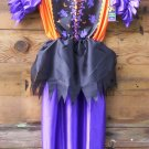 Witch Dress Orange/Blk/Purple MEDIUM Halloween Costume New Costumes SPECIAL SALE PRICE!!