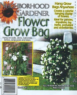 SALE!!!  Flower Grow Bag!  Hanging Plants  Planter  New!!