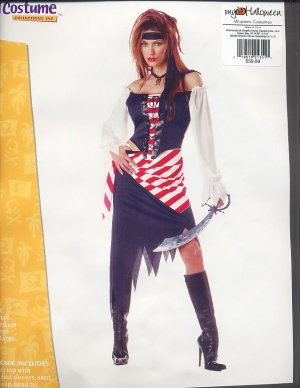 Ruby PIRATE Beauty LARGE Halloween Costume ADULT New!!