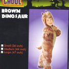 "Brown DINOSAUR Halloween Costume LARGE 47"" PLUSH! New!"