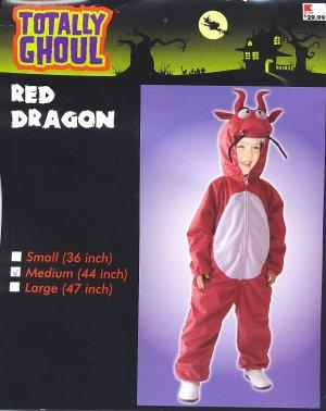 "Red DRAGON Halloween Costume MEDIUM 44"" PLUSH! New!"