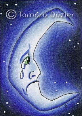 "ACEO original - ""Blue Moon"""