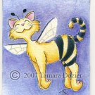 "ACEO original - ""Bee Happy"""