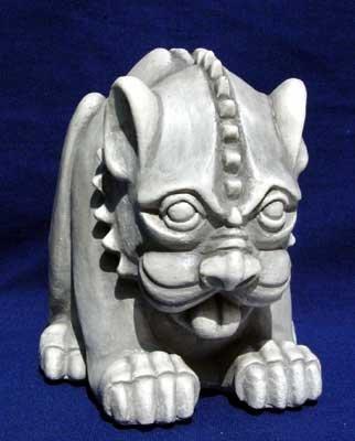 Dog gargoyle sculpture