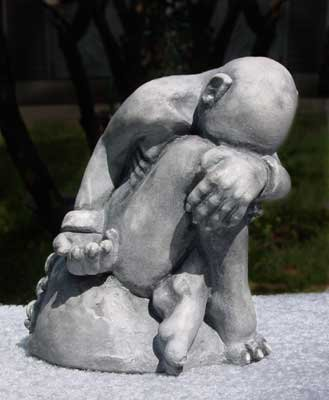 Choices Made gargoyle sculpture