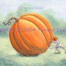 Peter pumpkin 7.5 x 10 giclee art print