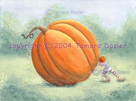 Peter pumpkin 9 x 12 giclee art print limited edition