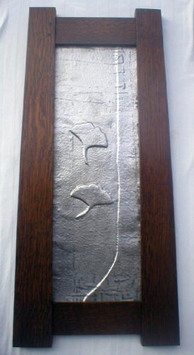 Mission Oak Ginko Tree and Leaf in Hammered Lead