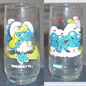 Smurfette of Smurf's Collectors Series Glass 1982 peyo