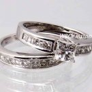 SZ 8 - 2.50 CARAT PRINCESS CUT WEDDING ENGAGEMENT RING SET