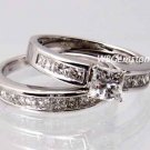 SZ 5 - 2.50 CT PRINCESS CUT WEDDING ENGAGEMENT RING SET