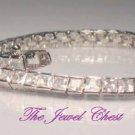 7.00 Ct Princess cut Diamond eternity Tennis Bracelet White Gold Channel Setting