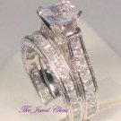 3 Ct Princess Diamond Antique Solitaire Engagement Wedding Ring set White Gold