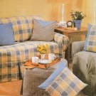 CURTAINS SLIPCOVERS SOFA CHAIR OTTOMAN PILLOWS MCCALLS 3981 SEWING PATTERN UNCUT