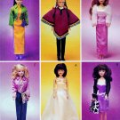 "11.5"" BARBIE DOLL DRESS, SHRUG, JACKET, SKIRT + MCCALL 3041 PATTERN UNCUT"
